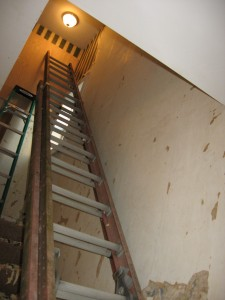 Ladder and stairwell